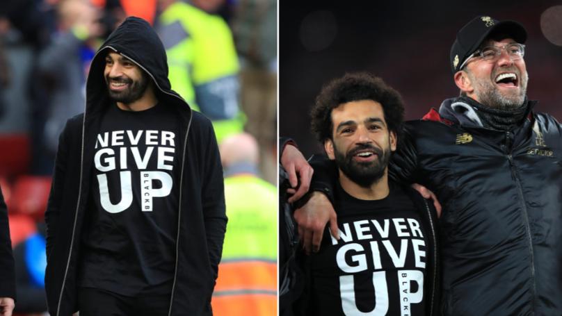 klopp, salah, never give up, mental